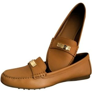 COACH Fredrica Tan Ginger Brown Loafers